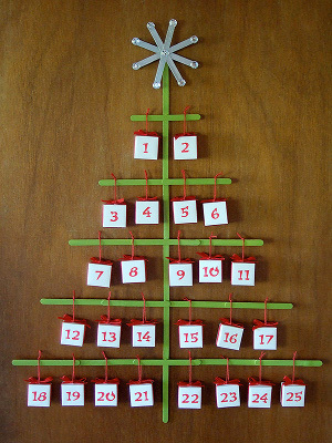 Origami Christmas Tree Advent Calendar