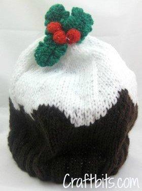 Adult Beanie Christmas Plum Pudding Allfreeknitting Com