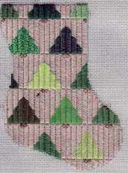 Pine Trees Mini Sock
