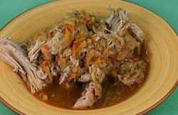 Slow Cooker Pulled Pork With Sauerkraut Recipe