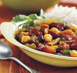 Slow Cooker 3 Bean Meatless Chili Recipe