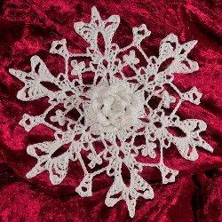 31 crochet snowflake ornaments allfreecrochet 3d wild rose snowflake dt1010fo