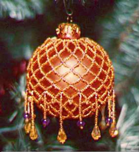Victorian Beaded Christmas Tree Ornament