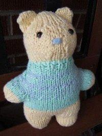 One-Seam Teddy Bear AllFreeKnitting.com