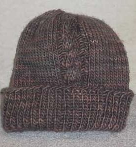 Two Cable Bulky Hat Knitting Pattern AllFreeKnitting.com