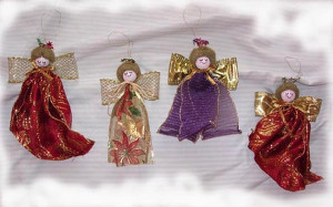 Ribbon Angel Christmas Ornament