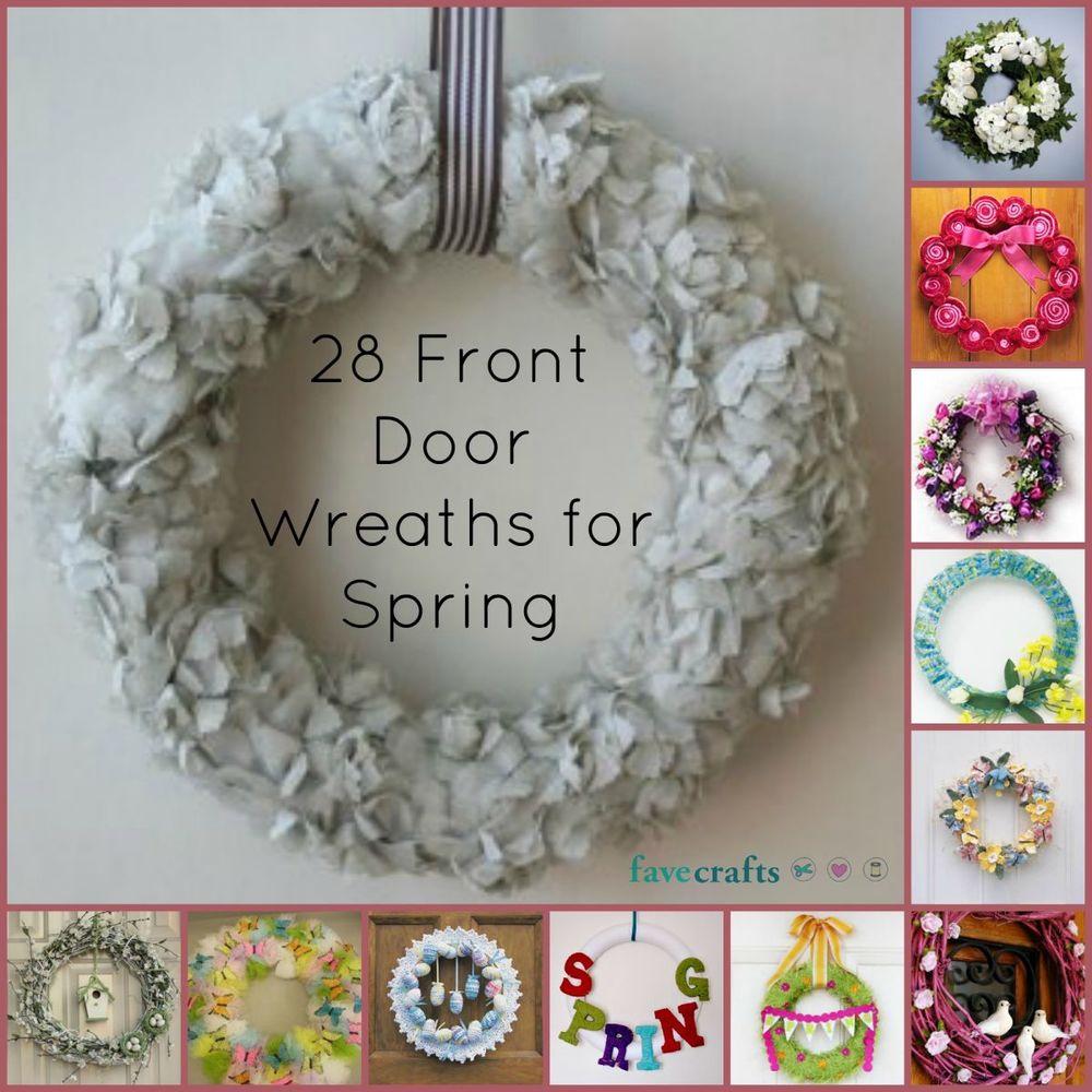 28 Decorative Front Door Wreaths For Spring Favecrafts Com