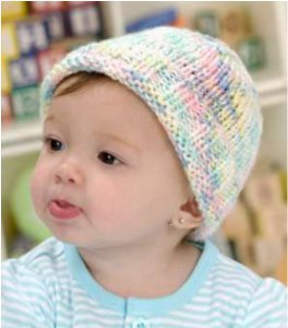 Easy to Knit Sweet Baby Hat | FaveCrafts.com