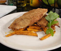 Oven Fried Fish and Chips