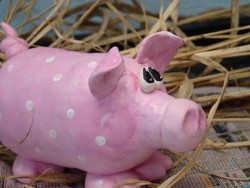 Adorable Clay Pig