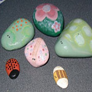 Hand Painted Rock Bugs