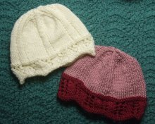 Lace Edged Chemo Caps