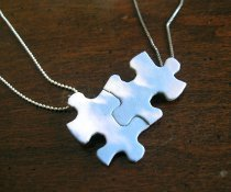 BFF Puzzle Necklace