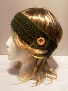 Free Crochet Patterns For Headbands With Button Closure : Headband with Button AllFreeCrochet.com