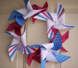 Patriotic Pinwheel Wreath
