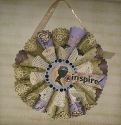 Vintage Inspired Paper Cone Wreath