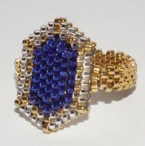 Faux Gold and Sapphire Ring