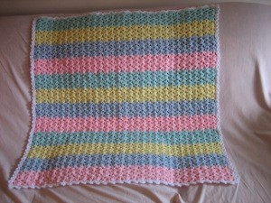 Shells And Stripes Baby Afghan Favecrafts Com