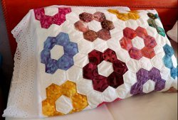 Grandmother's Flower Garden Quilted Pillowcases Part 2 ... : quilted pillow cases - Adamdwight.com
