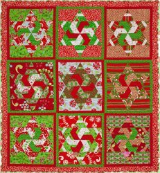 Candy Cane Stars Quilt
