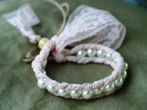 Pretty in Pink Lace and Pearl Bracelet