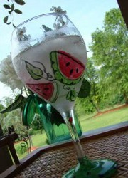 Whimsical Watermelon Drinking Goblet