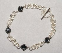 2 in 2 Chain Maille and Bead Bracelet Part 1