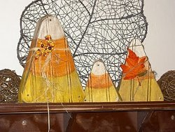 Wooden Candy Corn Decor