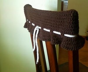 Captivating Are You Tired Of Having Your Chairs Back Into The Wall When You Get Up From  Eating? Well Not You Can Use This Free Crochet Pattern To Make A Kitchen  Chair ...