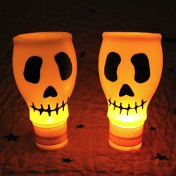 Plastic Bottle Skull Lights