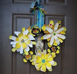 Whimsical Flower Wreath #0: Whimsical Flower Wreath Medium ID v=
