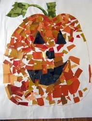 Pumpkin Mosaic from Paint Swatches