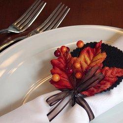 burst of autumn napkin rings allfreeholidaycrafts com