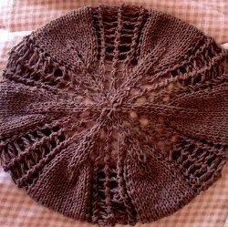 Lace Knit Autumn Leaves Beret Allfreeholidaycrafts Com