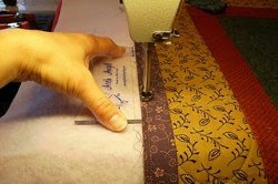 Binding a Quilt with a Longarm Machine