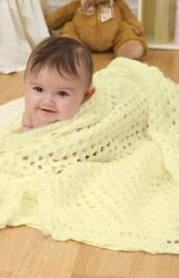 Crochet Yellow Baby Blanket