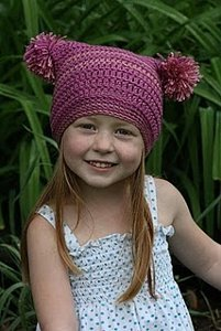 Pretty in Pink Pom Hat