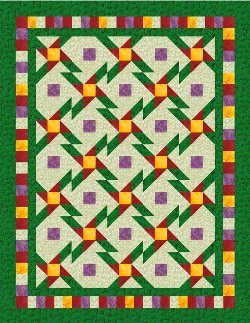 Daisy Star Nine Patch Quilt
