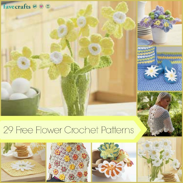 29 Free Flower Crochet Patterns and Other Girly Crochet Projects ...