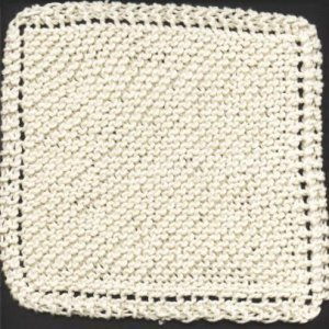 Simple Dishcloth Knitting Pattern : Grandmas Favorite Dishcloth AllFreeKnitting.com