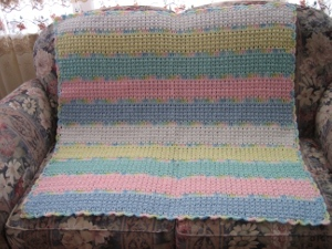 Fun and Fancy Double Crochet Afghan
