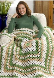Weekend Wonder Giant Granny Square Throw Favecrafts Com