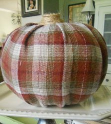 Farmer Chic Flannel Pumpkins