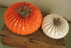 Pretty Pumpkins from Dryer Vents