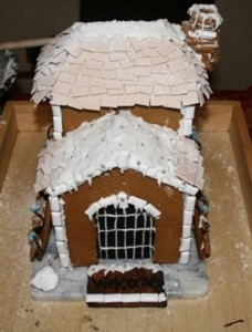 Christmas Gingerbread House Coloring Pages Medium Difficulty