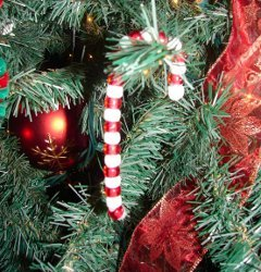 Easiest Ever Candy Cane Ornaments