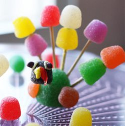 Colorful Gumdrop Turkeys