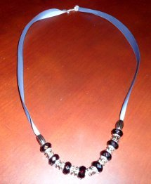 How to Make a Bead and Ribbon Necklace