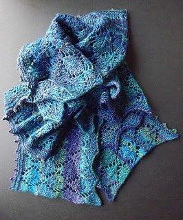 Lengthwise Knit Lace Scarf Allfreeknitting Com