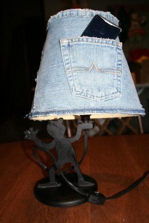 Turn Old Jeans into a Lamp Shade